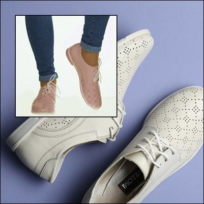 Дышащие кожаные летние туфли с перфорацией, кожа перфорированная, на низком ходу фото №1