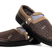 Мокасины мужские светло коричневого цвета (БЛ-40к)