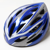 Шлем велосипедный с регулировкой размера. Красный, синий