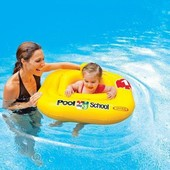 Intex Плотик-Ходунки 56587 EU Учимся плавать, размер 79-79см, от 1 до 2 лет