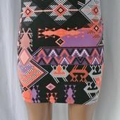 Фирменная, стильная,яркая,облегающая юбка мини Asos.Размер uk12,М.