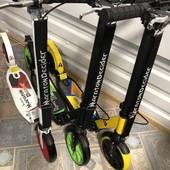 Самокат для детей и взрослых с большими колесами scooter  с 2 амортизаторами