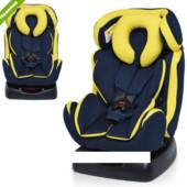 Автокресло детское M 3678-2 группа 0+/1 (до 18кг) сине-желтое