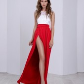 Вечернее платье с гипюром синий,красный, белый