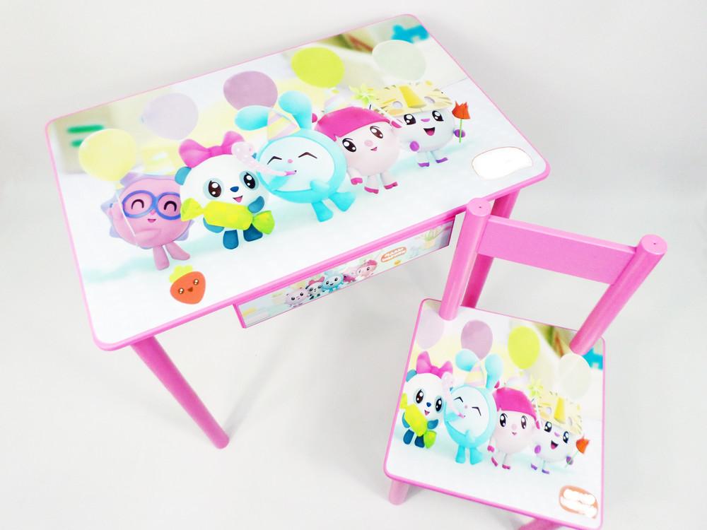 """Набор детской мебели """"малышарики"""" стол парта с ящичком и стульчик (стол стул) фото №1"""