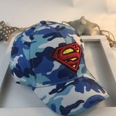 Детская бейсболка милитари, Супермен