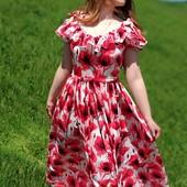 Летнее красивейшее платье для мамы и дочки Family Look Фемили Лук