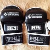 Кожаные фирменные перчатки для карате