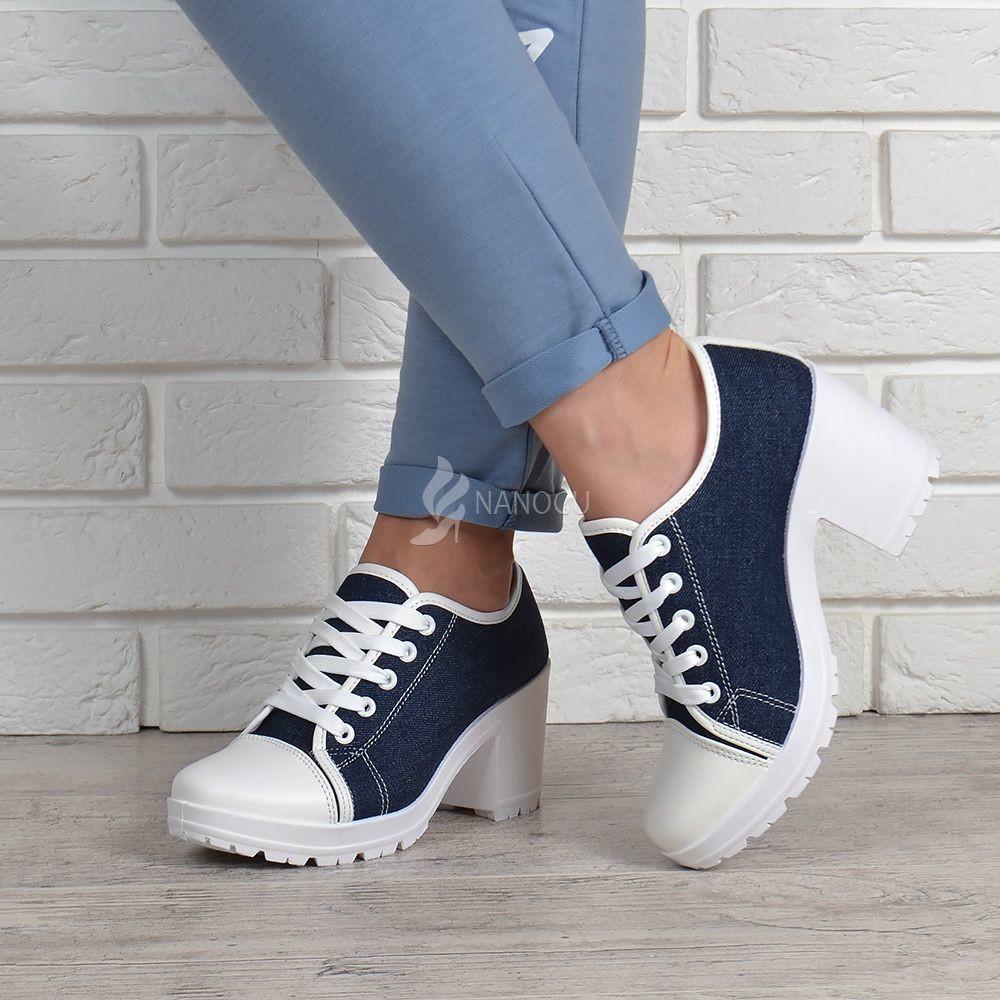 Кеды джинс miu miu style на широком каблуке джинсовые женские кеды синие белые фото №1