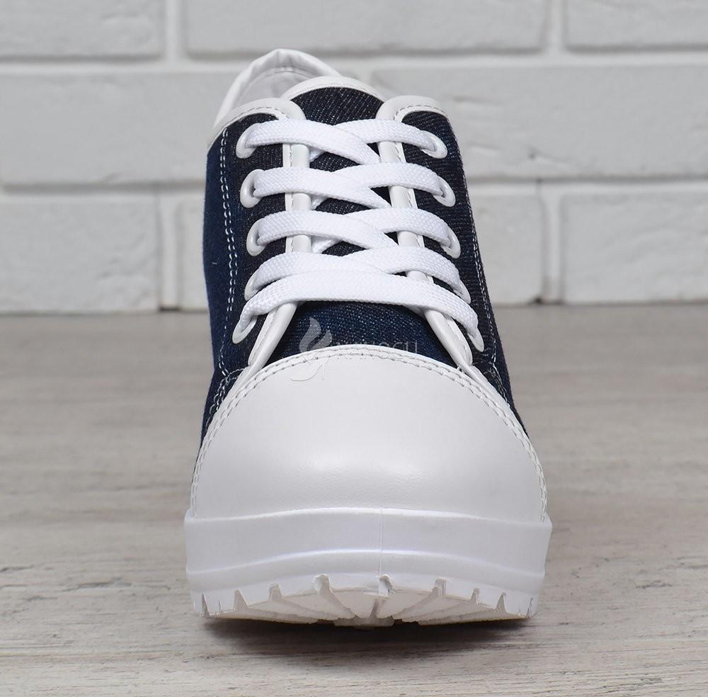 adad41cb9 Кеды джинс miu miu style на широком каблуке джинсовые женские кеды синие  белые фото №2