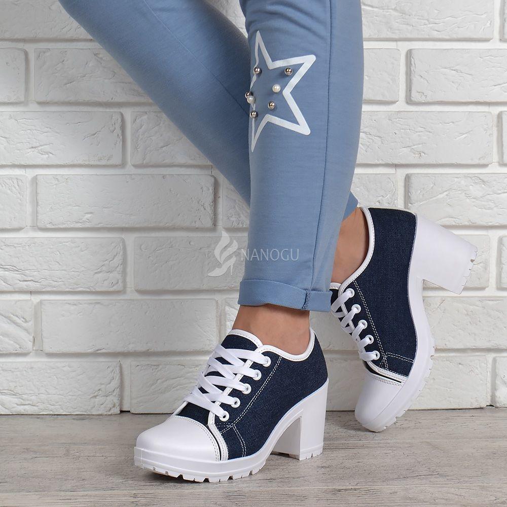 37badc199 Кеды джинс miu miu style на широком каблуке джинсовые женские кеды синие  белые фото №8