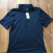 Мужская футболка поло темно-синего цвета размер М 22-1 M1