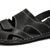 Мужские сандалии-босоножки на лето, черные (БС-015)