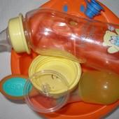 Ниблер Nuby, тарелка BabyOno, слюнявчик, бутылки Nuby и Precious.