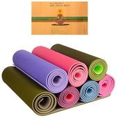 Коврик для фитнеса и йоги ТРЕ Eco 0613 (гимнастический коврик): размер 181х60см