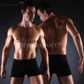 Плавки мужские купальные универсальные, трусы-боксеры для бассейна, пляжа (черный) код MS004