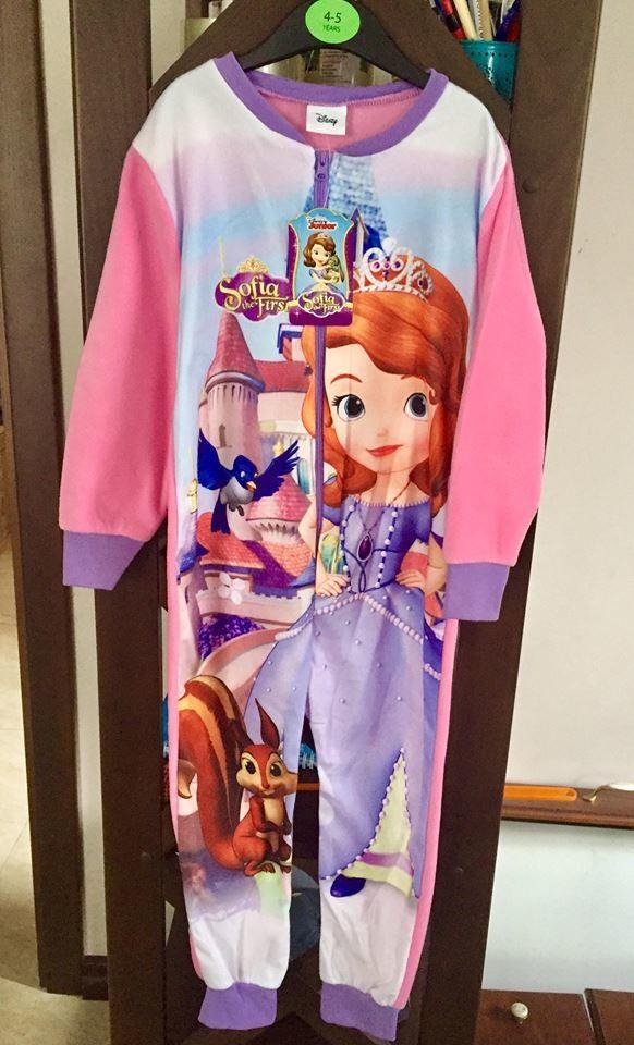 Пижама флисовая сдельная принцесса софия 033a8f154c5e7