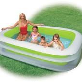 56483 Бассейн детский надувной Intex Интекс прямоугольный басейн