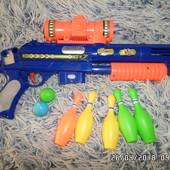Ружьё с прицелом кеглями и шариками