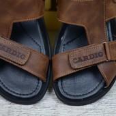 Мужские кожаные сандалии 320 риж