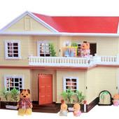 Большой домик Happy Family 1512 дом с фонариками