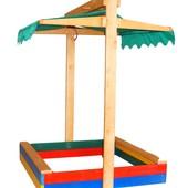 Детская песочница с навесом.