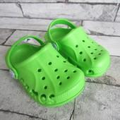 Кроксы  зеленые Тм Виталия 20\21 р на 13,5 см