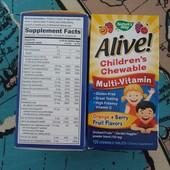 Nature's Way, Alive! Детские жевательные мультивитамины