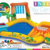 57444 Бассейн надувной Интекс, игровой центр с горкой