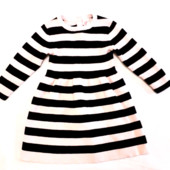 Платье H&M 1-2г полосатое