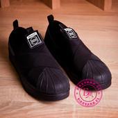 Мужские кеды в стиле SuperStar черные 41-45 размер
