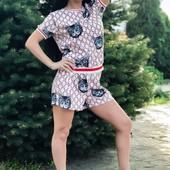 Женский летний костюм с шортами