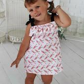 Стильный Сарафан для девочки белый Колибри Рост 92-104 см