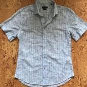 Легкая рубашка с коротким рукавом размер 45/46