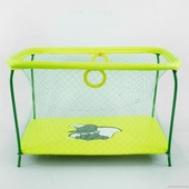 """Манеж игровой Kinderbox Люкс с крупной сеткой """"Слоник"""" (желтый)"""