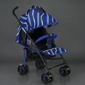 Коляска прогулочная Joy S 608 синяя