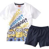 Комплект Миньоны 122-128 шорты футболка Minions