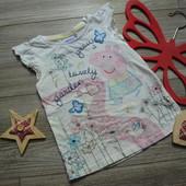 Майка футболка с Пеппой F&F (2-3 года)