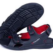 Мужские кожаные сандалии Columbia р 40-45