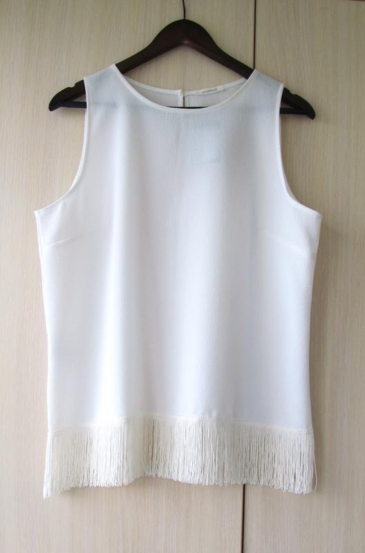 bfcbc934afe Promod белая блуза с бахромой