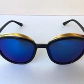 Женские очки солнцезащитные синие 0042