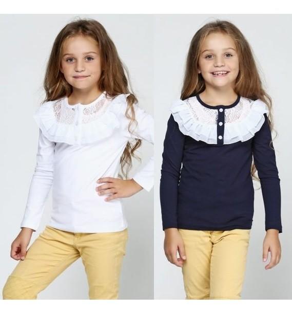 Нарядная трикотажная блузка в школу. фото №1