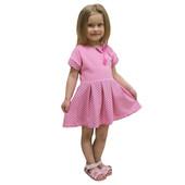 Платье для девочек ,стрейч кулир набивной