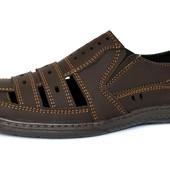 Сандалии-туфли мужские летние коричневые (СГ-15)