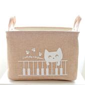 Корзина для игрушек на завязках Cat 4 цвета