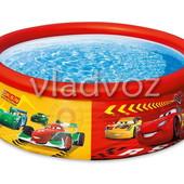 Детский семейный наливной бассейн Intex тачки 28103 183 51 см.