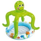 Детский надувной бассейн с навесом Осьминог Intex 57115