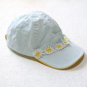 Летняя кепка с ромашками для девочки 3-6 лет
