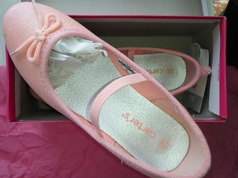 4b39cc2d046a Туфельки балетки лодочки Carters 12 р. 30 размер туфли Картерс нарядные по  стелечке ...