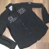 Мужская рубашка черная размер L